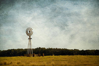 Windmill On The Farm Poster