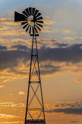 Windmill Silhouette Poster by Brian Wallace