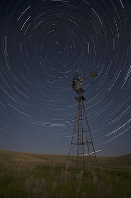 Windmill Startrails Poster by Doug Davidson