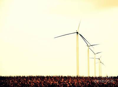 Windmills 1 Poster by A K Dayton