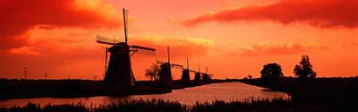 Windmills Holland Netherlands Poster