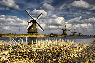 Windmills Poster by Oleksandr Maistrenko