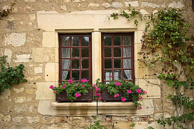 Window And Flowers Poster by Oleg Koryagin