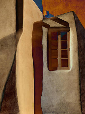 Window De Santa Fe Poster by Carol Leigh
