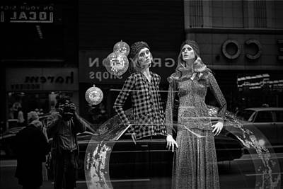 Window Display In Chicago 1973 Poster by Randall Nyhof