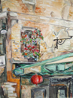Poster featuring the painting Window Flowers 2 by Becky Kim