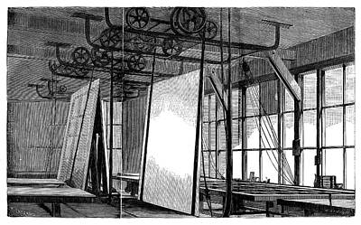 Window Glass Production Poster by Science Photo Library
