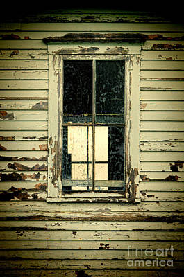 Window In Abandoned Building Poster by Jill Battaglia