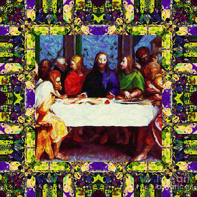 Window Into The Last Supper 20130130m138 Poster by Wingsdomain Art and Photography
