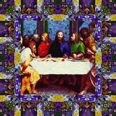 Window Into The Last Supper 20130130p28 Poster by Wingsdomain Art and Photography