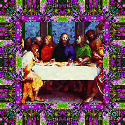 Window Into The Last Supper 20130130p68 Poster by Wingsdomain Art and Photography