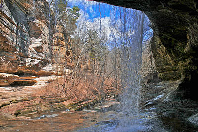 Poster featuring the photograph Window Of A Waterfall by Kathleen Scanlan