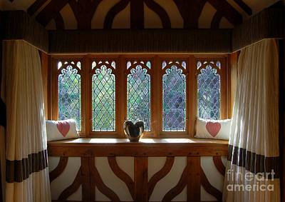 Window Of Hearts Poster by Linda Prewer
