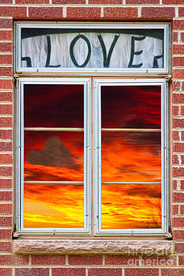 Window Of Love Poster by James BO  Insogna