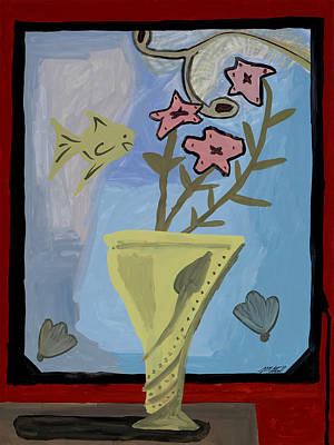 Poster featuring the painting Window Of Wonders by Artists With Autism Inc