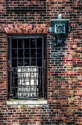 Window On A Red Brick Wall Poster by Bill Cannon
