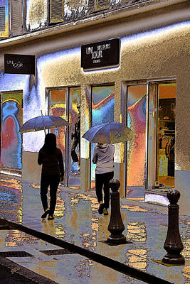Window Shopping In The Rain Poster