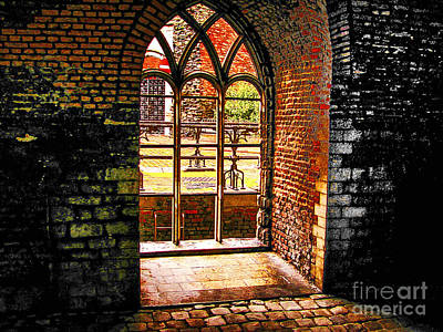Window To Courtyard Poster by Rick Bragan