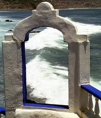 Poster featuring the photograph Window To The Ocean by Philomena Zito