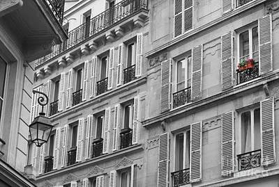 Windowbox In Paris Poster by Heidi Hermes