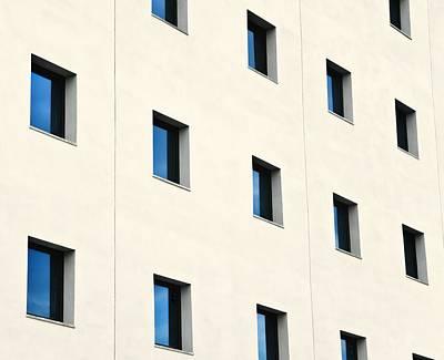 Windows In An Office Building Poster by Ken Welsh