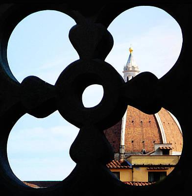 Windows Of Florence View From Ufizzi Gallery Roof Poster by Irina Sztukowski