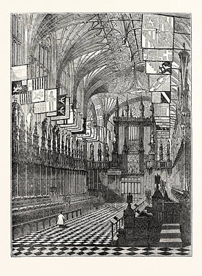 Windsor Castle 1. St. Georges Chapel Windsor Poster by English School
