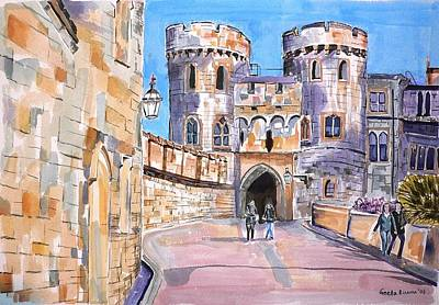 Poster featuring the painting Windsor Castle by Geeta Biswas