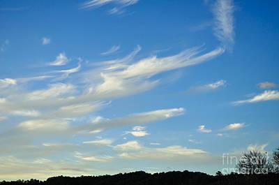 Windswept 3 - Wispy Clouds Poster