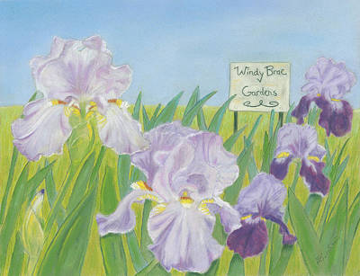 Poster featuring the painting Windy Brae Gardens by Arlene Crafton