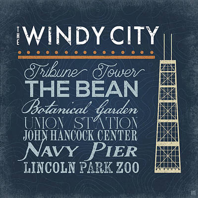 Windy City Poster by Aubree Perrenoud