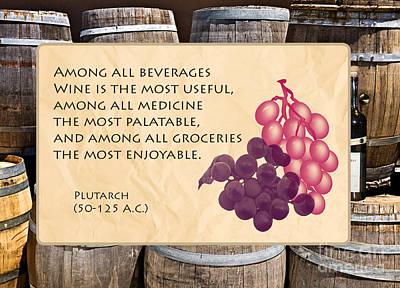 Wine - Best Medicine Poster