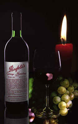 Wine And Candle Light Poster