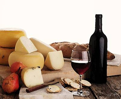 Wine And Cheese Poster by Cole Black