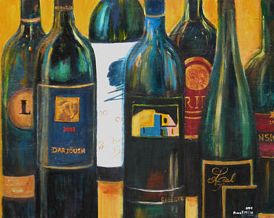 Wine Bar Poster by Sheri  Chakamian