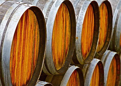 Wine Barrels Poster by Michael Blesius