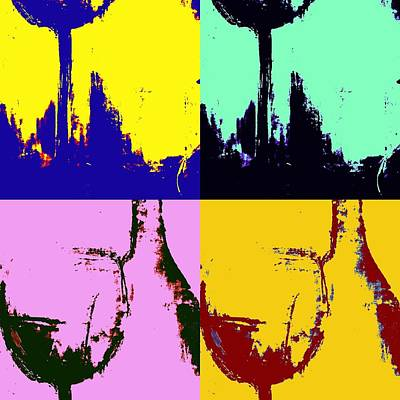 Wine Bottle And Glass Poster by Brad Walters