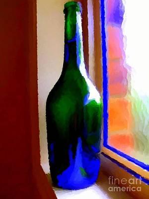 Wine Bottle Poster by Chris Butler