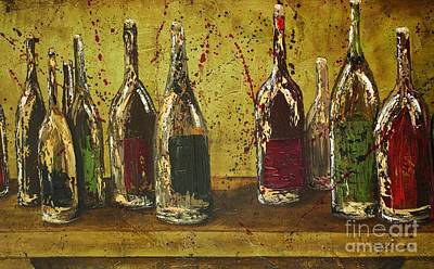 Wine Bottles Poster by Jodi Monahan
