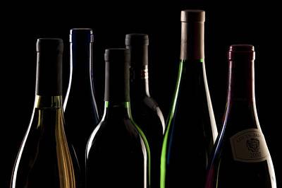 Wine Bottles Poster by Tom Mc Nemar