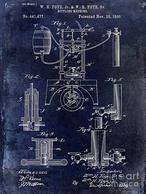 1890 Wine Bottling Machine  Poster by Jon Neidert