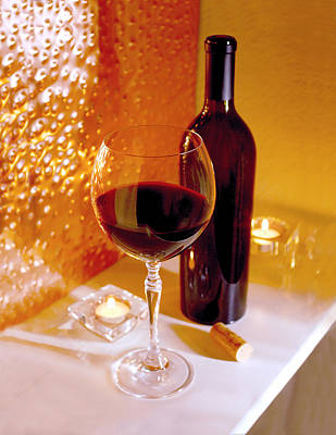 Wine By Candlelight   Poster by Jon Neidert