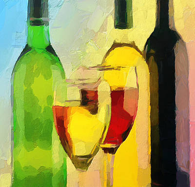 Wine Colors Poster by Yury Malkov