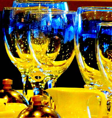 Wine Glasses 2 Poster by Randall Weidner