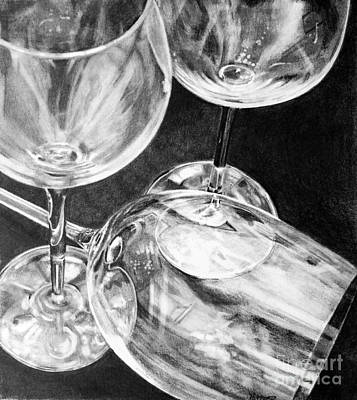 Wine Goblets Poster by Mark Hufford