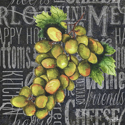 Wine Grapes I Poster