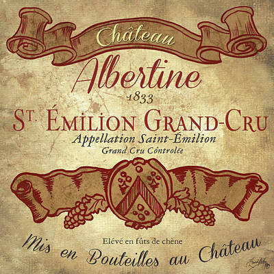 Wine Label Iv Poster