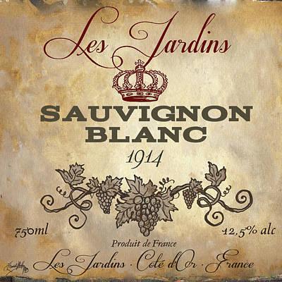 Wine Label Vi Poster