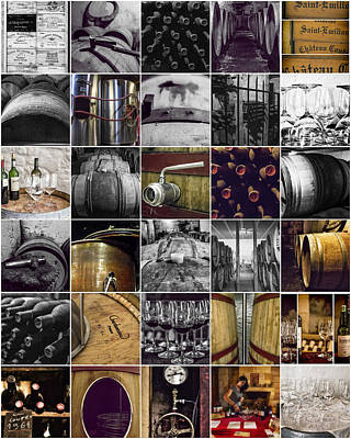 Wine Lovers Collage Poster