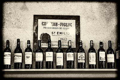 Wine On A Shelf Poster by Georgia Fowler